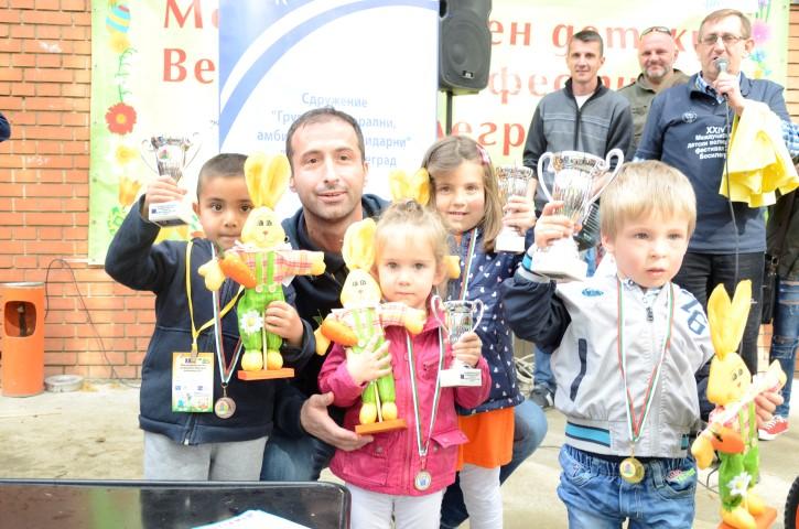 Лазар Господинов- победител на турнира по чупене на яйца до петгодишна възраст